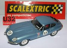 SCX SPAIN SCALEXTRIC ALTAYA COCHES MITICOS  JAGUAR E TYPE #12 MET BLUE LTED. ED.