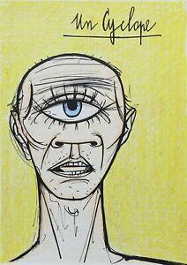 Buffet Bernard: Un Cyclops - Lithography Original - Referenced, 1967, Mourlot