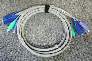Compaq 127016-005 192325-001 6FT PS/2 KVM Cable Server To Console VGA