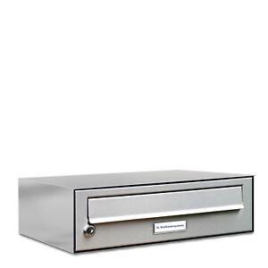 1er Premium Edelstahl Briefkasten Anlage für Außen Wand Design Postkasten S