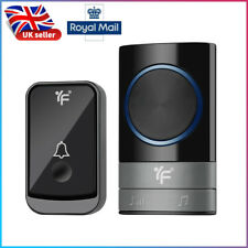 Wireless Doorbell Wall Plug-in Cordless Door 45 Chime 300m Range IP44 Waterproof