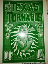 Texas Tornadoes Santa Fe Nm concert poster signed numbered by artist salvador c!