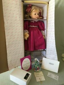 """NEW MINT Marie Osmond Quite A Pair """" Helena """" Doll 24"""" & Radko Ornament COMPLETE"""