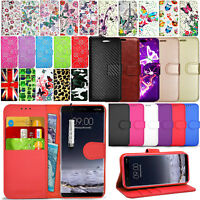 For Nokia 9 - Premium Wallet Leather Case Flip Stand Cover + Touch Mini Stylus