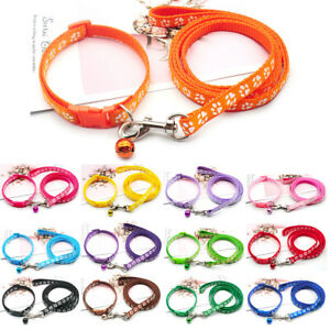 Dog Collar and Lead Leash Set Extra Small Puppy Cat Pet Nylon Tough Clip Strong