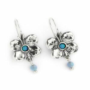 Hand Made Aviv Jewellery Sterling Silver Opal Earring ASE293
