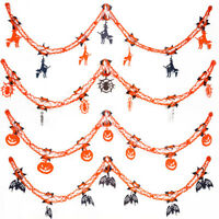 FP- AU_ Halloween Party Hanging Garland Pennant Banner Decoration 2m Paper Kids