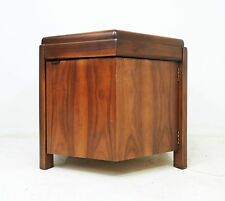 Vintage Mid Century Modern LANE Walnut Finish Wood Octagon Side End Table