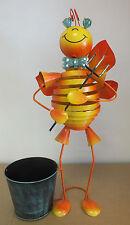 Metallo color arancione brillante Dancing Bee FIORIERA DECORAZIONE GIARDINO ESTERNI