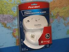 SMOKE & CARBON MONOXIDE ALARMS FIRST ALERT COMBO 2 PACK ***BRAND NEW***