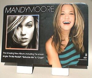 "MANDY MOORE ""CRUSH"" AUSTRALIA PROMO RECORD BIN DISPLAY / STAND UP DIVIDER"