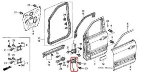 HINGE B, DOOR (Left Side) (Lower) GENUINE HONDA 67450-S9V-305ZZ  2003-2008 Pilot