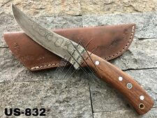 AMERICANO CUTLERY HANDMADE DAMASCUS HUNTING FULL TANG BUSHCRAFT KNIFE - US-832