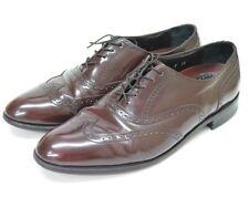 Florsheim Wingtip Shoes Perforated Brogue Burgundy Red Leather Men's Sz 10-1/2