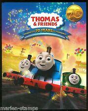 Australia 70th .Anniversary Thomas & Friends Set Of Two Sheetlets In Folder