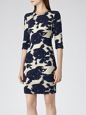 REISS LEILA GOLD AND NAVY MINI DRESS size 6