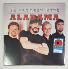 Alabama 16 Biggest Hits 2LP Walmart Exclusive Apple Red Vinyl 2020 New Sealed