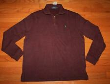 NEW NWT Polo Ralph Lauren Men's 1/4 Zip Wine Red Pullover Sweater PONY LOGO *F2