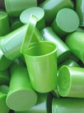 20 X Metal Green 30 Dram Squeeze Pop Top Bottles Vial Pill Box Herb Containers
