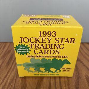 1993 Jockey Star Trading Cards Set of 220 Cards Horse Racing Box Hologram Card