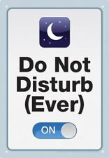 Tin Sign - Do Not Disturb Metal Plate New Licensed Gift Toys 30047