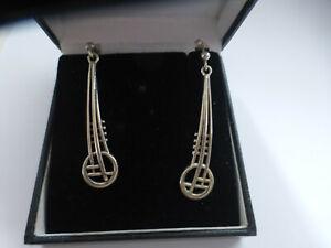 Carrick Scotland Rennie Mackintosh Sterling silver Earrings