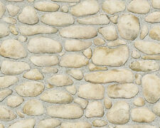 as Creation Pebble Stone Pattern Realistic Embossed Texture Wallpaper 834515
