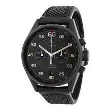 Tag Heuer Carrera Black Dial Black Leather Mens Watch CAR2B80.FC6325