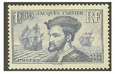 "FRANCE STAMP TIMBRE N° 297 "" JACQUES  CARTIER 1F50 BLEU "" NEUF xx LUXE  V186B"
