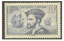 "FRANCE STAMP TIMBRE N° 297 "" JACQUES  CARTIER 1F50 BLEU "" NEUF xx TTB  V1867"