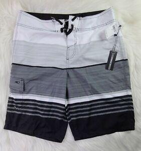 O'Neill  Black, Gray & White Swim Trunks Board Shorts 32