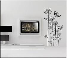 ADESIVI MURALI FIORI FARFALLE DECORAZIONI PARETE WALL STICKERS DESIGN WS0816