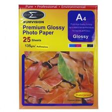 Sumvision Glossy Adhesive A4 Inkjet Photo Paper 135gsm - 25 Sheets