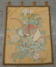 Vintage French Beautiful Birds Scene Wall Hanging Print Tapestry 83x66cm (A378)