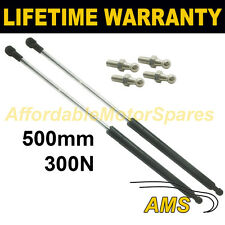 2X UNIVERSAL GAS STRUTS SPRINGS KIT CAR OR CONVERSION 500MM 50CM 300N & 4 PINS