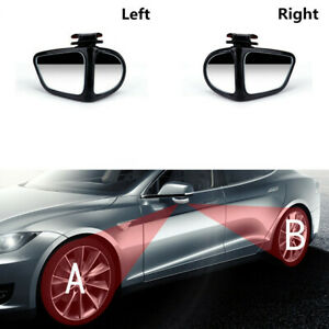 2 Pcs Universal Wide Angle Convex View Adjustable Blind Spot Mirror for Car SUV