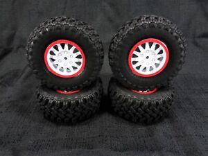 4 Losi Tenacity DB TT Pro Method White 12mm Wheels and Falken Wildpeak MT Tires