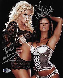 Candice Michelle & Torrie Wilson Signed 8x10 Photo BAS Beckett COA WWE Autograph