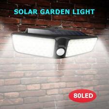 80LED Solarleuchte mit Bewegungsmelder Solarstrahler Außenleuchte Wandlampe IP65