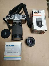 Pentax K1000 SE 35mm SLR Camera with extras