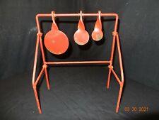 Vintage Spinning Metal Target Folding Carnival Shooting Gallery Target, Steel