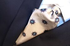 "GIORGIO ARMANI ""Cravatte"" Made in Italy Beige with Black and Green Geometric Tie"