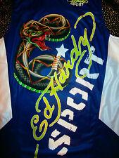 Don Ed Hardy Christian Audigier Viper T-shirt tattoo biker Basketball Jersey L