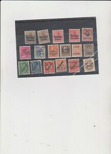 17 Various Stamps With Overprints
