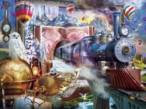 Jigsaw Puzzle Fantasy Magical Journey Train 300 EZ grip pieces NEW