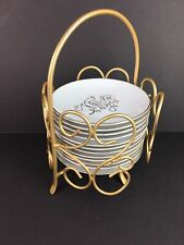 """12 Set Noble Excellence 12 Days Of Christmas Gold 6"""" Plate Stand Porcelain"""