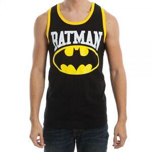 Batman Logo Symbol DC Comics Adult Contrast Tank Top