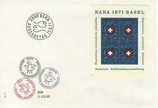 LETTRE SUISSE BERN AUSGABETAG 1971 BLOC NABA 1971 BASEL