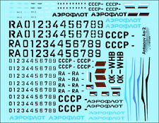 """[FFSMC Productions] Decals 1/48 Antonov An-2 """"Colt"""" Aeroflot"""