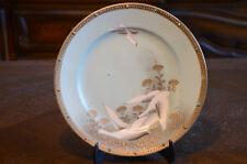 "Vintage Japanese Nippon 8"" Plate Dish Dishes Swan Bird Crane Salad Japan Antique"
